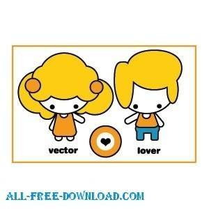 free vector Lovers