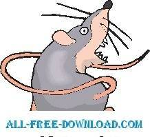 free vector Rat Chasing Tail