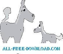 Horses cartoon