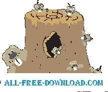 free vector Woodchuck Family
