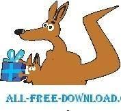 free vector Kangaroo and Baby 3