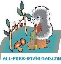 free vector Hedgehog 4