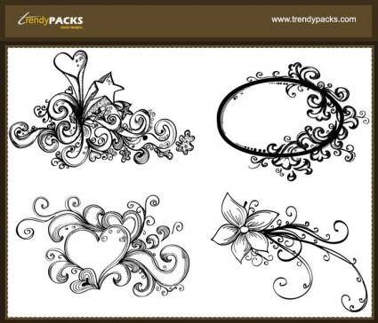 free vector Free Hand Drawn Vector Ornaments