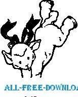 free vector Lamb Doing Handstand