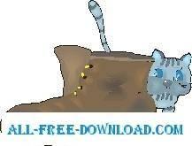free vector Kitten Hiding