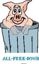 Pig in Trash Can