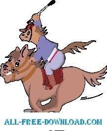 free vector Horse Jockey