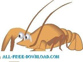 free vector Lobster 6
