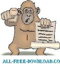 free vector Gorilla with Proclamation