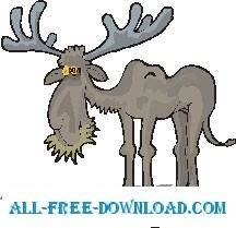 free vector Moose Eating 1