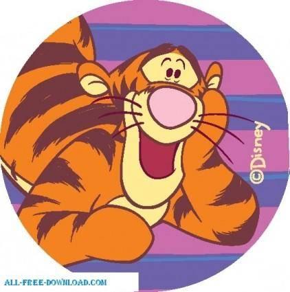 free vector Winnie the Pooh Tigg 009