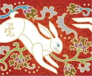 New year rabbit vector