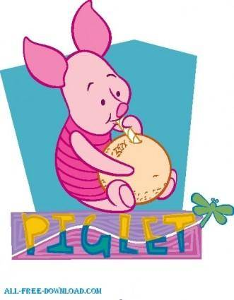 free vector Winnie the Pooh Piglet 031