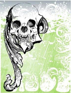 free vector Free Money skull Vector
