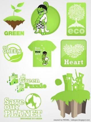 free vector Green Vectors