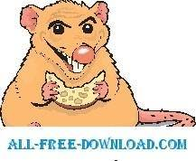 Rat Eating Cheese 2