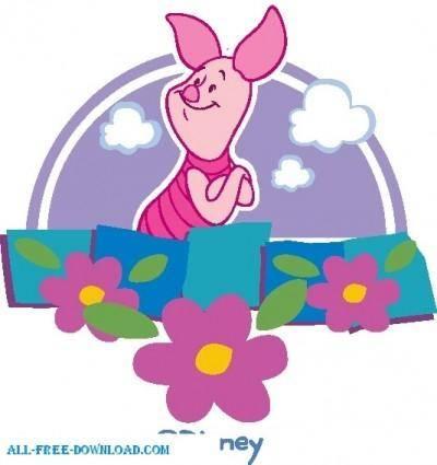 free vector Winnie the Pooh Piglet 027
