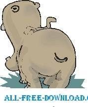 free vector Hippo Rear