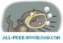 free vector Tadpole Goofy