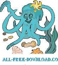 free vector Octopus 14