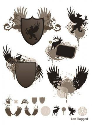 free vector Wings - Coat of Arms