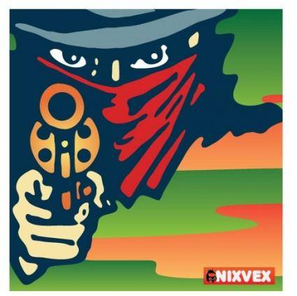 "free vector NixVex ""Stick 'em up"" Free Vector"