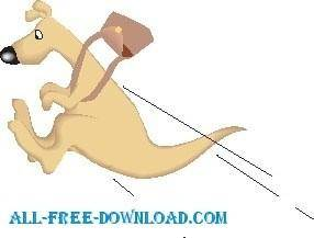 free vector Kangaroo and Pouch