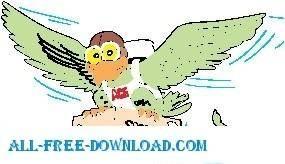 free vector Special Delivery Bird