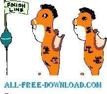 free vector Seahorse Racing