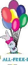 free vector Rabbit with Balloons