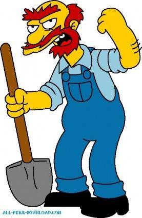 free vector Groundskeeper Willie 01 The Simpsons