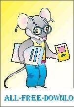 free vector Mouse with Books