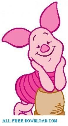 free vector Winnie the Pooh Piglet 012