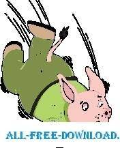 free vector Pig Falling