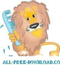 Lion Combing Mane