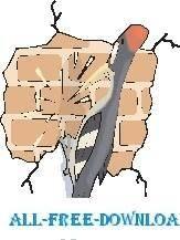 free vector Woodpecker and Brick Wall