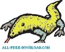 free vector Lizard 10