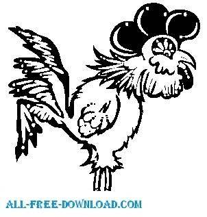 free vector Rooster 03