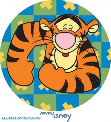free vector Winnie the Pooh Tigg 015