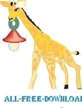 free vector Giraffe with Lantern