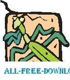 free vector Praying Mantis