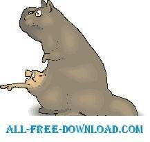 free vector Kangaroo and Baby 6