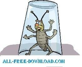 free vector Insect Caught