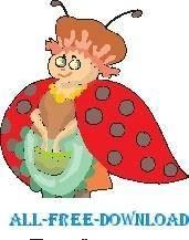 free vector Ladybug 17
