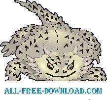 free vector Horn Lizard