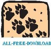 free vector Paw Prints 2