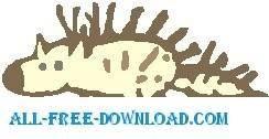 free vector Porcupine 2