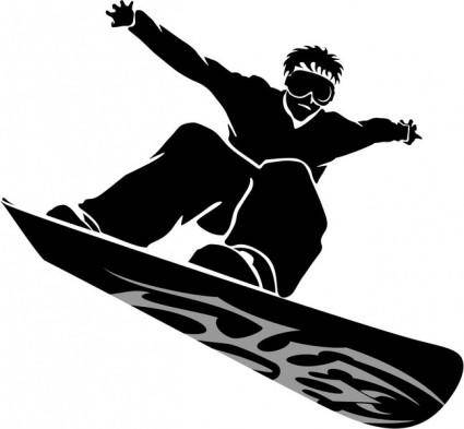 free vector Snowboarder Vector Image