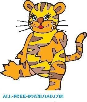 free vector Tiger 08