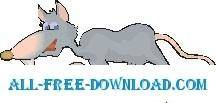 free vector Rat Walking 2
